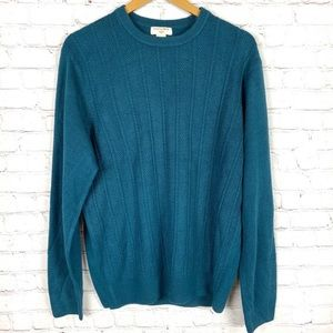 Oversized Teal Knit Sweater L